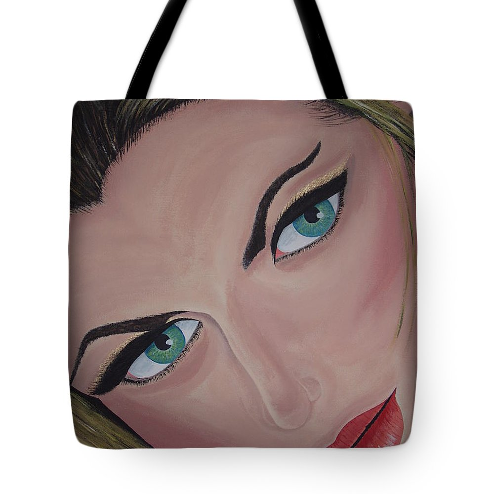 Model Tote Bag featuring the painting Louise by Dean Stephens