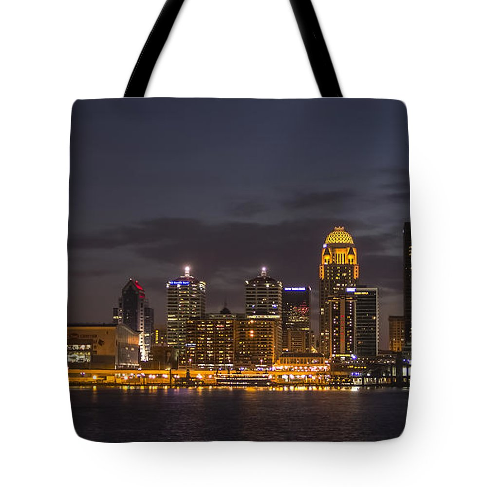 River Boat Tote Bag featuring the photograph Louisville by Michael J Samuels