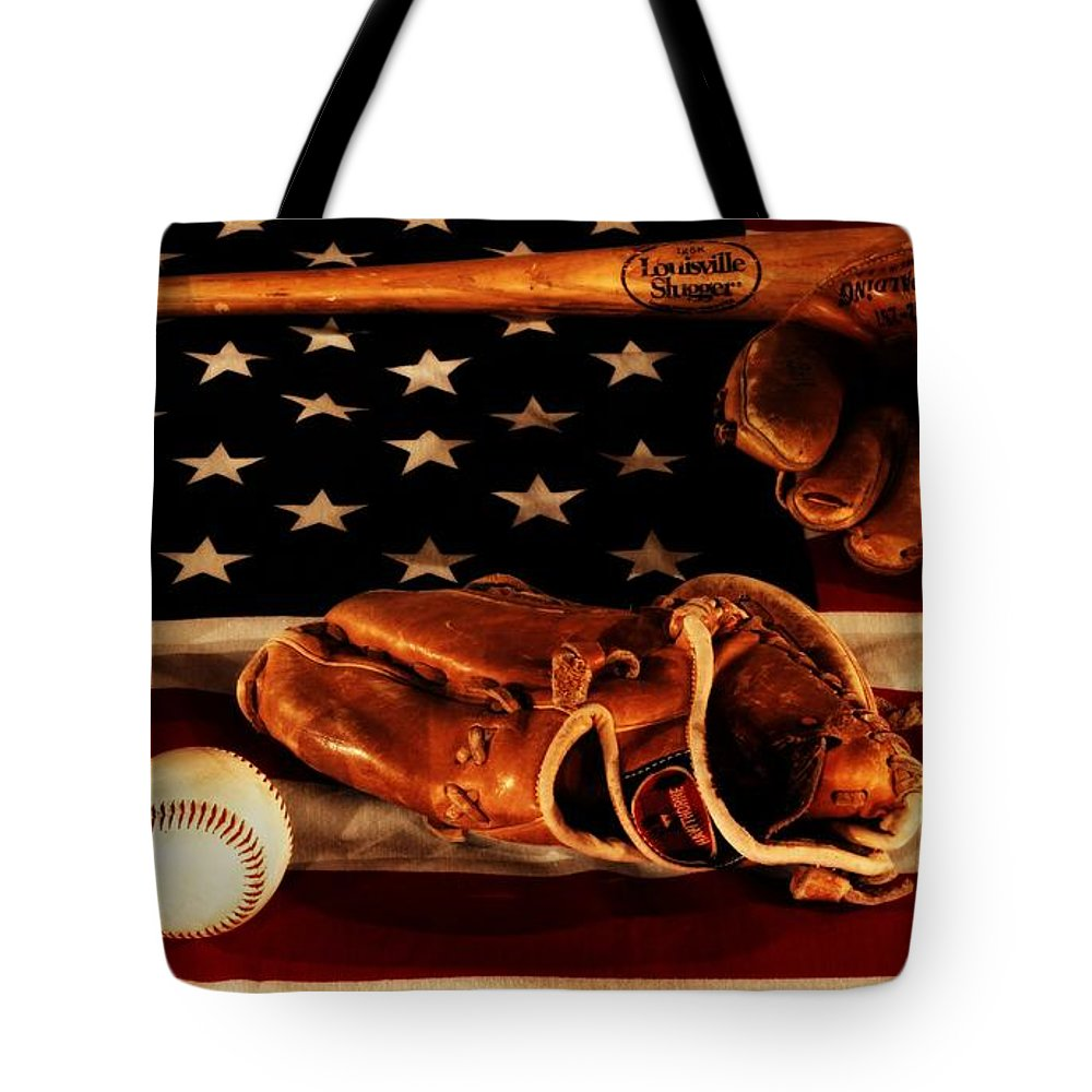 Baseball An American Tradition Tote Bag featuring the photograph Louisville Slugger by Dan Sproul
