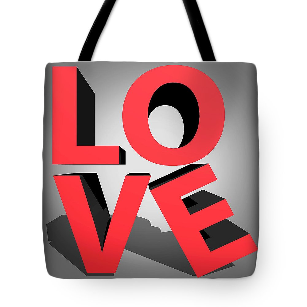 Love Tote Bag featuring the digital art Love 2 by Mark Ashkenazi