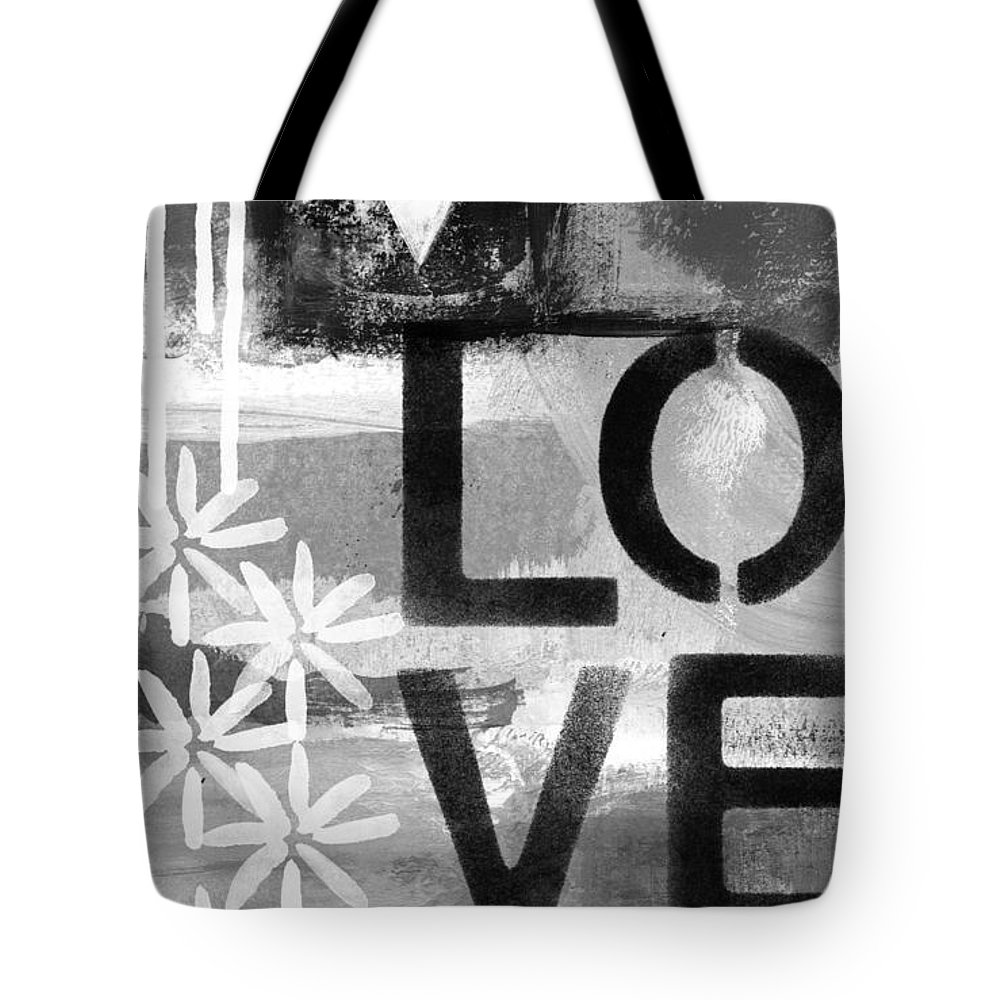 Love Tote Bag featuring the painting Love- abstract painting by Linda Woods