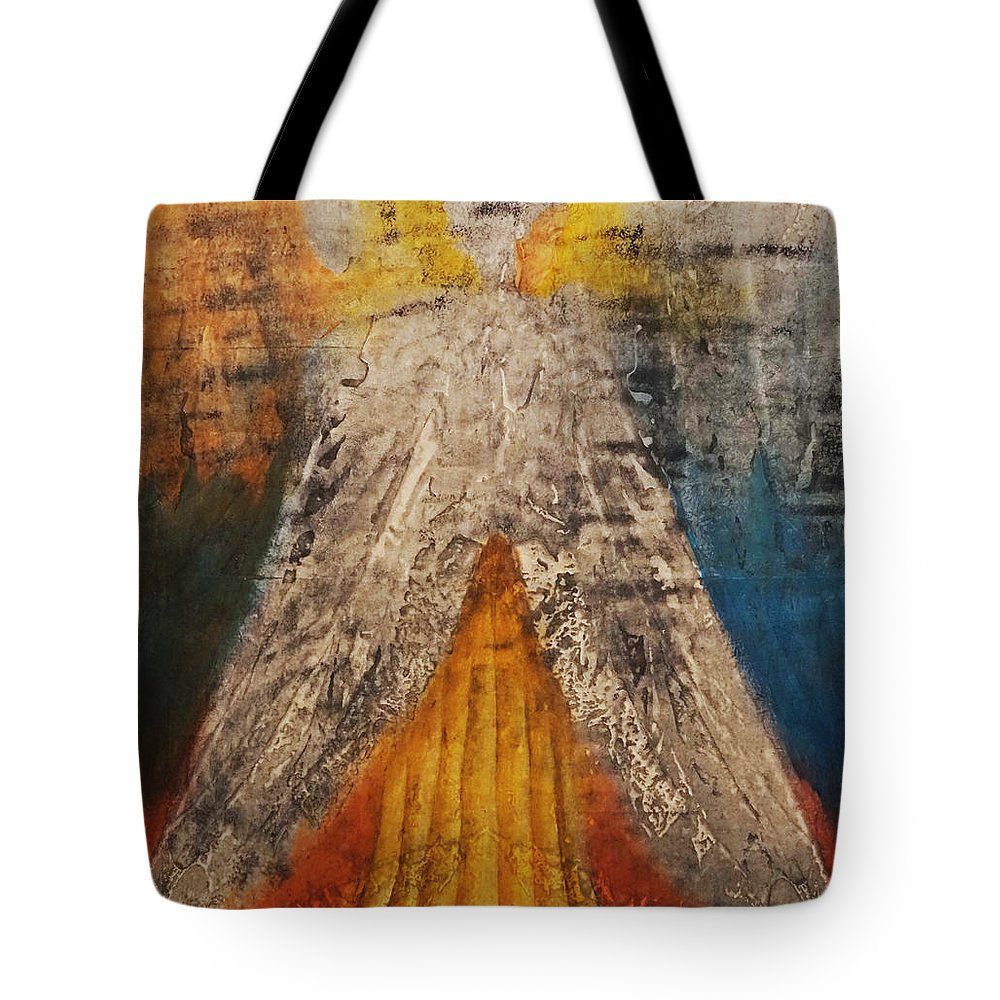 Giorgio Tote Bag featuring the painting Love And Only Love Can Make My Soul Take Flight by Giorgio Tuscani