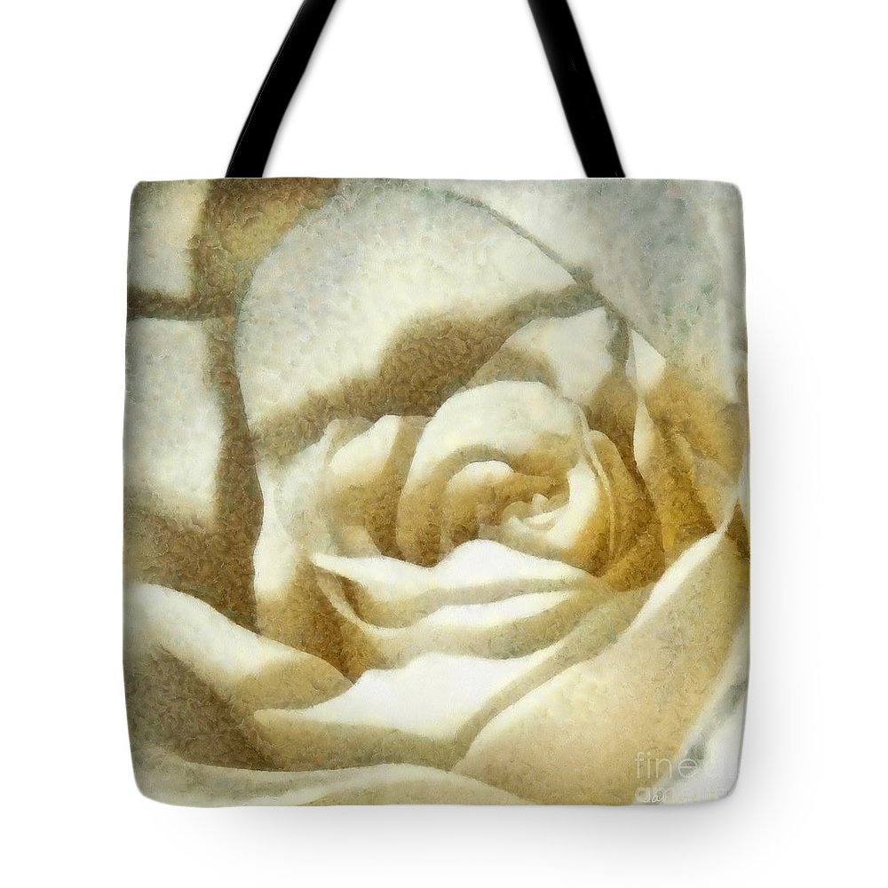 White Rose Tote Bag featuring the photograph Love Everlasting by Janine Riley