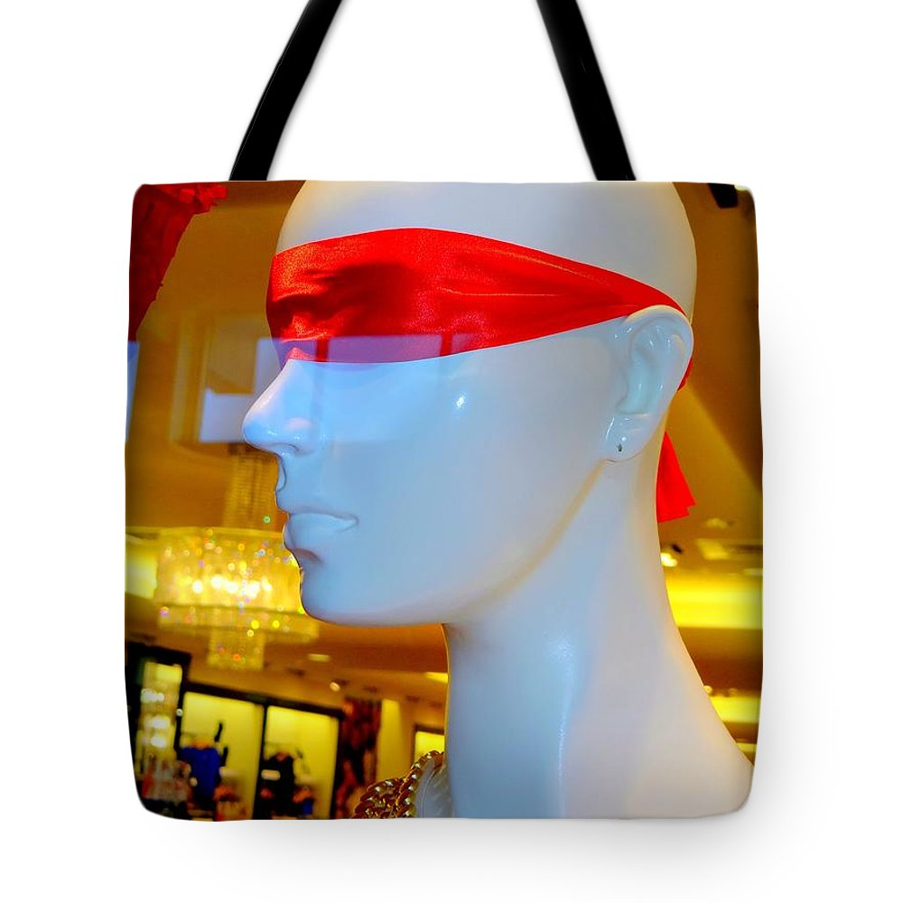 Mannequins Tote Bag featuring the photograph Love Is Blind by Ed Weidman