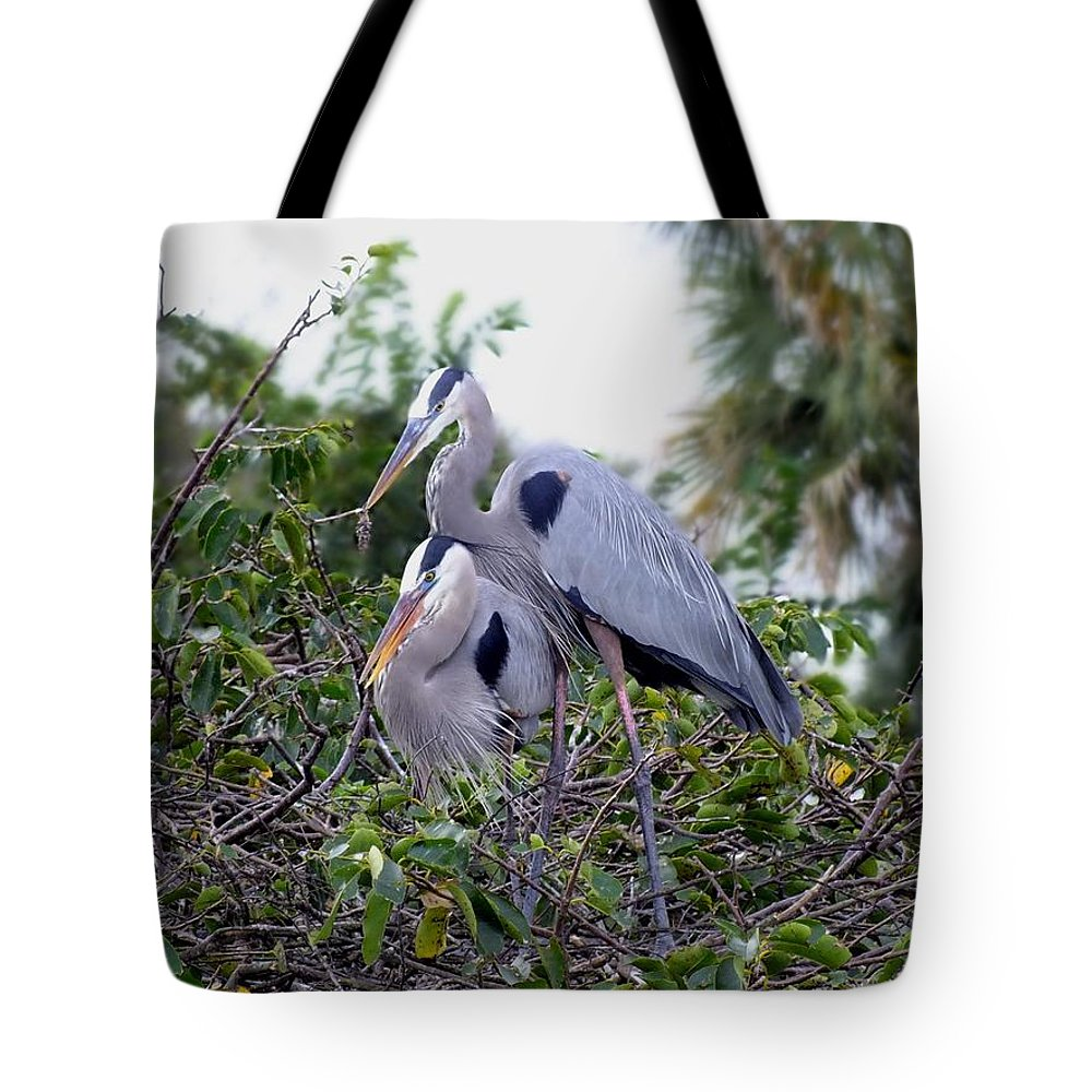 Nature Tote Bag featuring the photograph Love Is In The Air by Peggy King