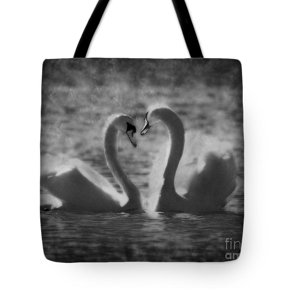 Festblues Tote Bag featuring the photograph Love Is.. by Nina Stavlund