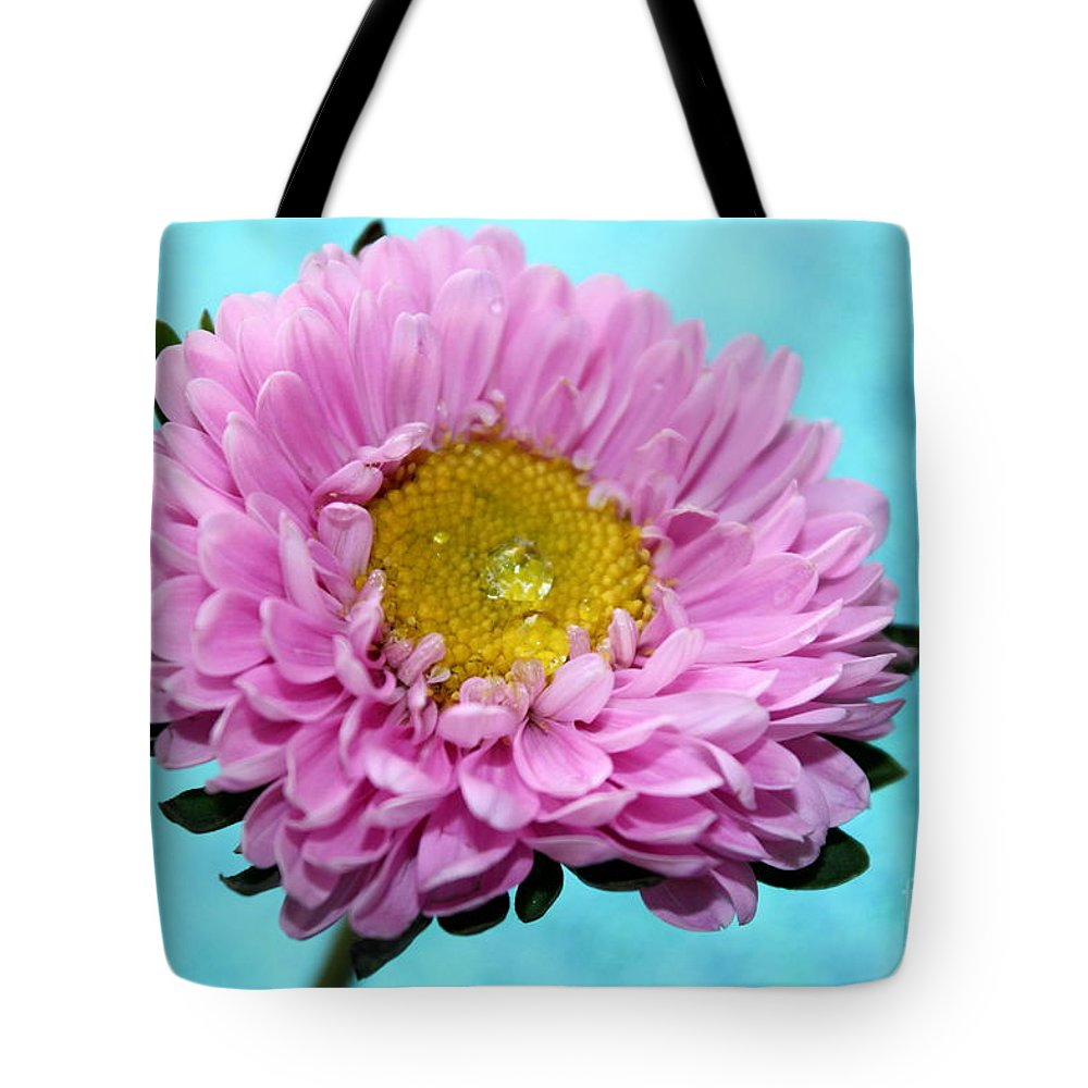 Pink Flower Tote Bag featuring the photograph Love Is True by Krissy Katsimbras