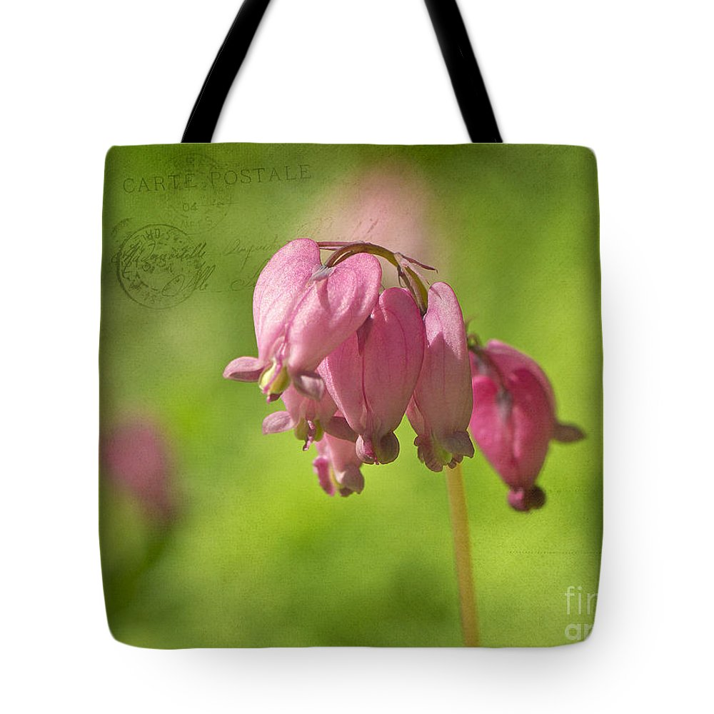 Bleeding Hearts Tote Bag featuring the photograph Love Letters 2 by Sharon Talson