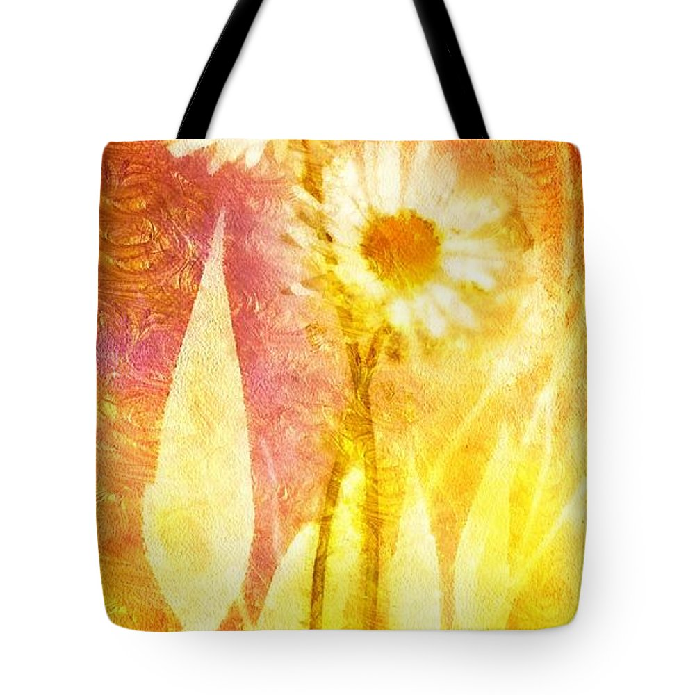 Love Me Tender Tote Bag featuring the painting Love Me Tender Gold by Mo T