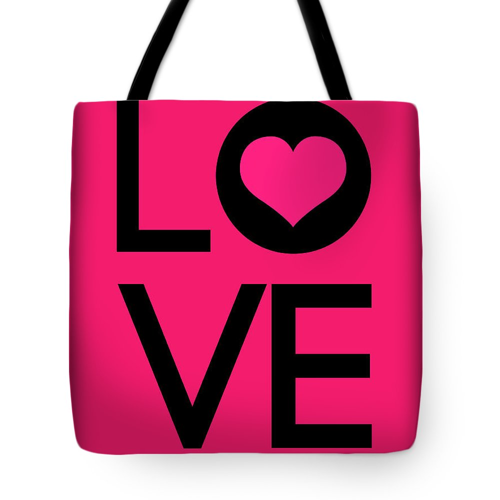 Love Tote Bag featuring the digital art Love Poster 5 by Naxart Studio