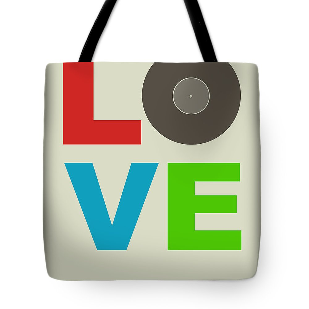 Quotes Tote Bag featuring the digital art Love Poster by Naxart Studio