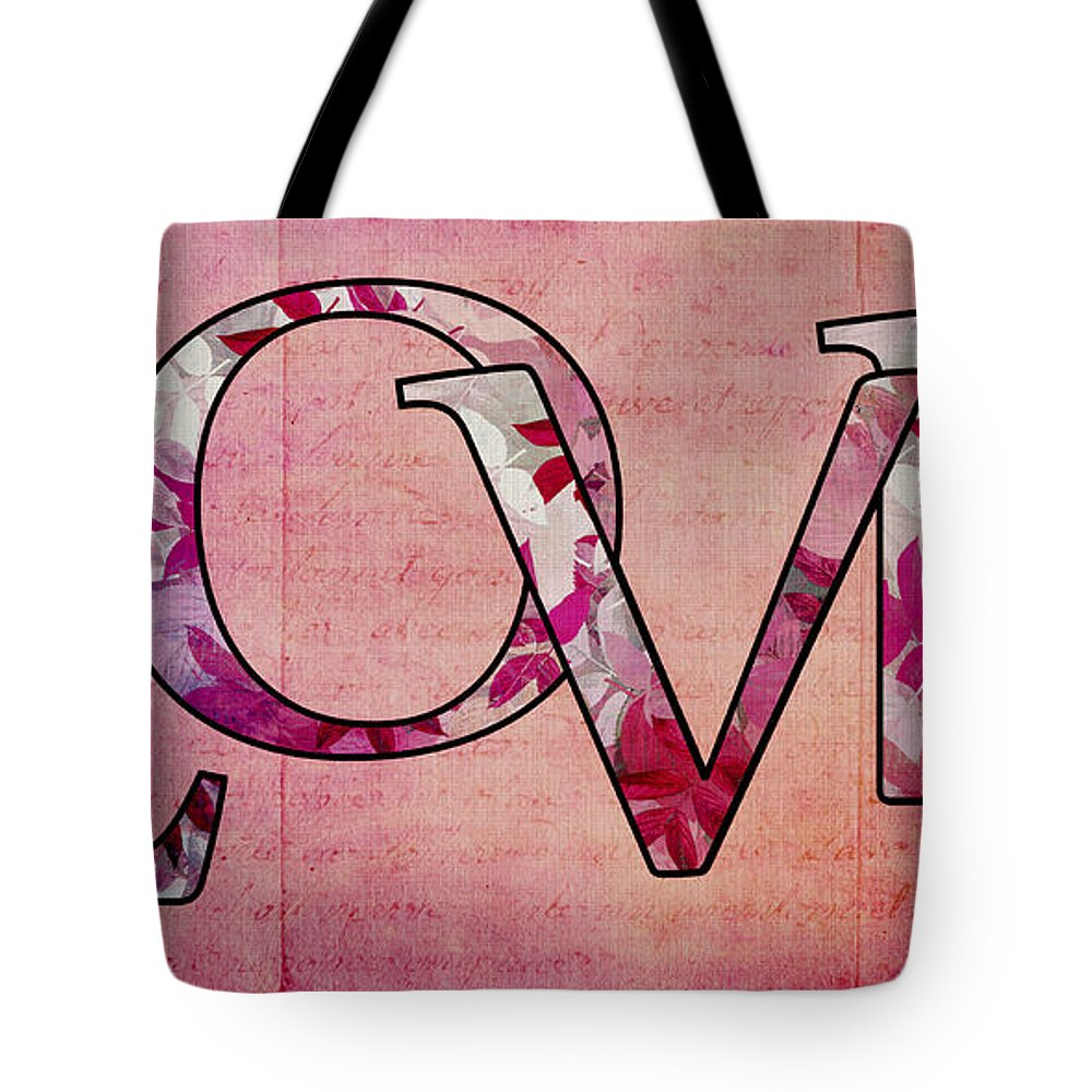 Love Digital Art Tote Bag featuring the digital art Love - S0103t by Variance Collections