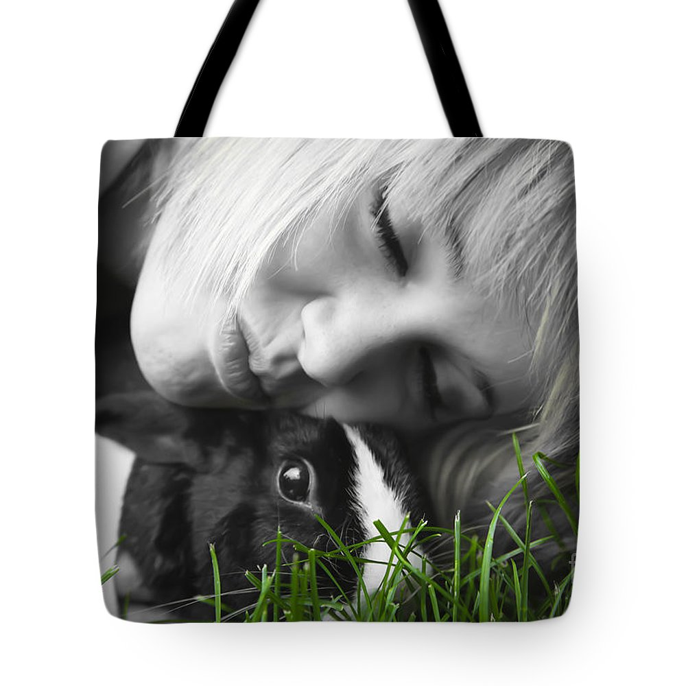 Bunny Tote Bag featuring the photograph Love The Bunny by Lori Frostad