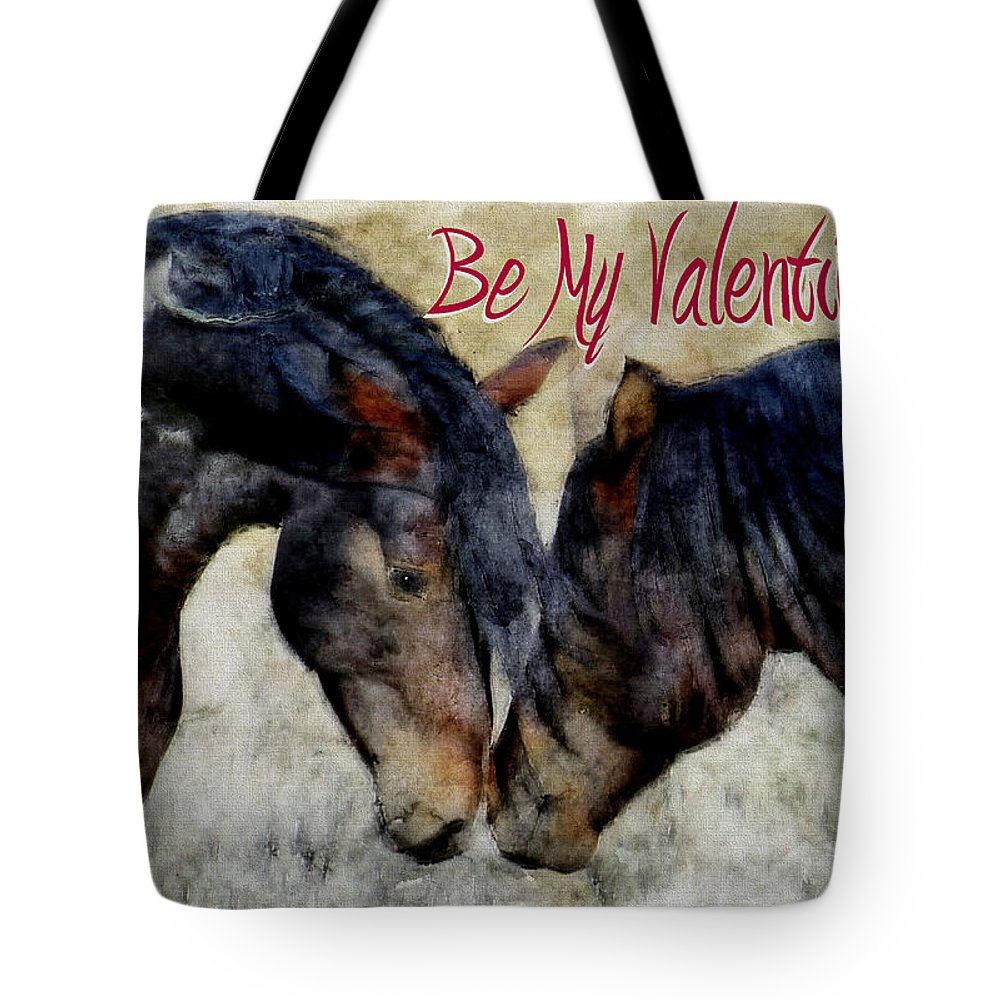 Horse Tote Bag featuring the painting Love Will Keep Us Together 1 by Ericamaxine Price