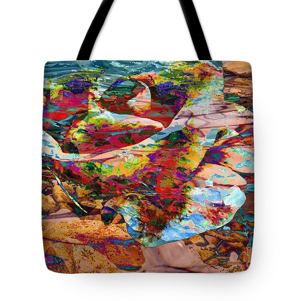 Abstract Tote Bag featuring the digital art Love by Yael VanGruber