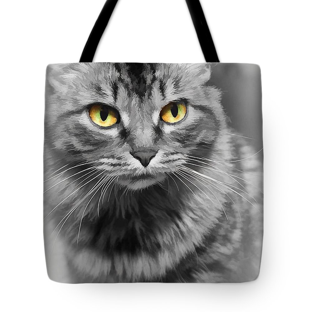 Gold Eyes Tote Bag featuring the photograph Lovely by Joyce Baldassarre