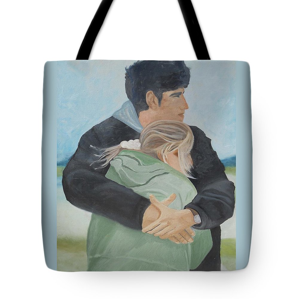 People Tote Bag featuring the painting Love by Angela Inguaggiato