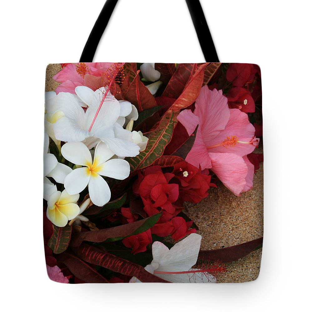 Aloha Tote Bag featuring the photograph Lovers In Paradise by Sharon Mau