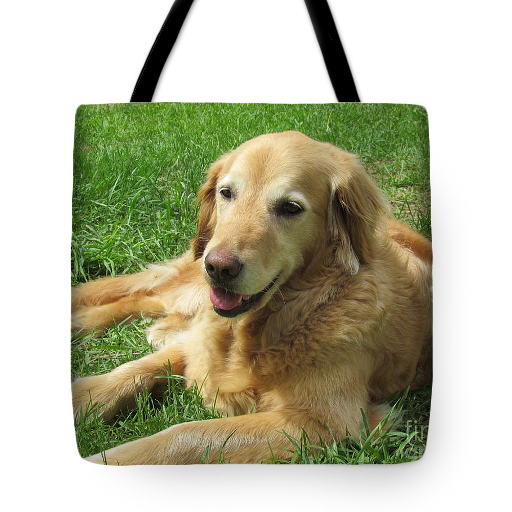 Golden Retriever Tote Bag featuring the photograph Loving Life by Elizabeth Dow
