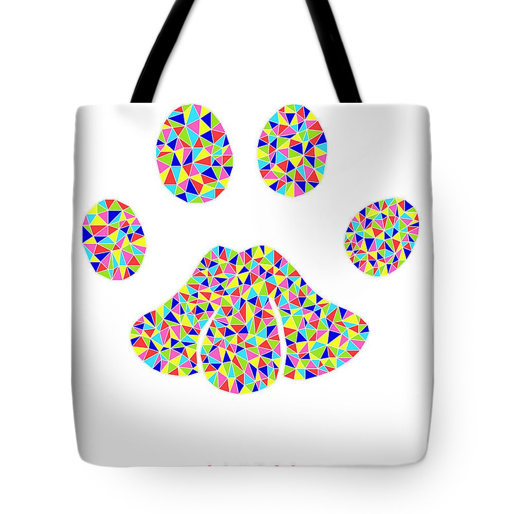 Cougar Tote Bag featuring the digital art Low Poly Cougar Paw by Jurq Studio