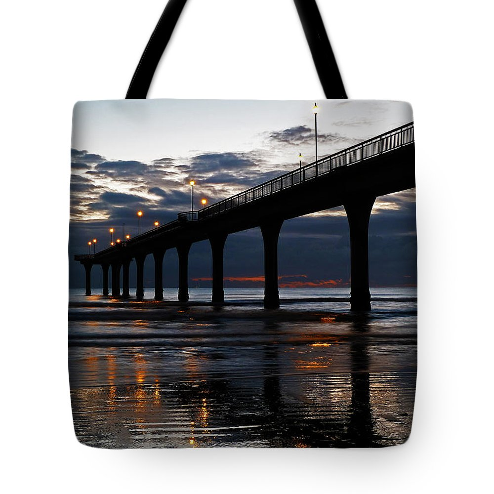 Twilight Tote Bag featuring the photograph Low Tide by Steve Taylor
