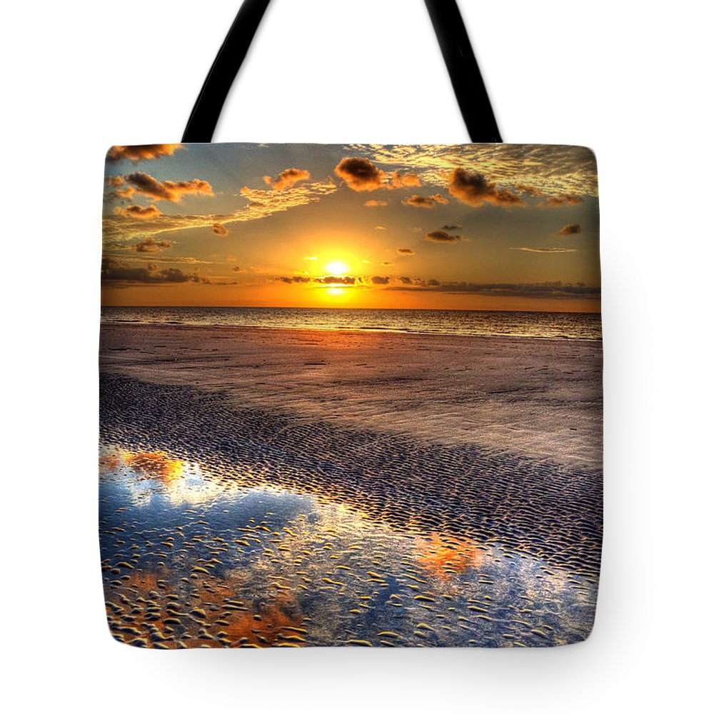 Jekyll Island Tote Bag featuring the photograph Low Tide Sunrise On Jekyll Island by Greg and Chrystal Mimbs