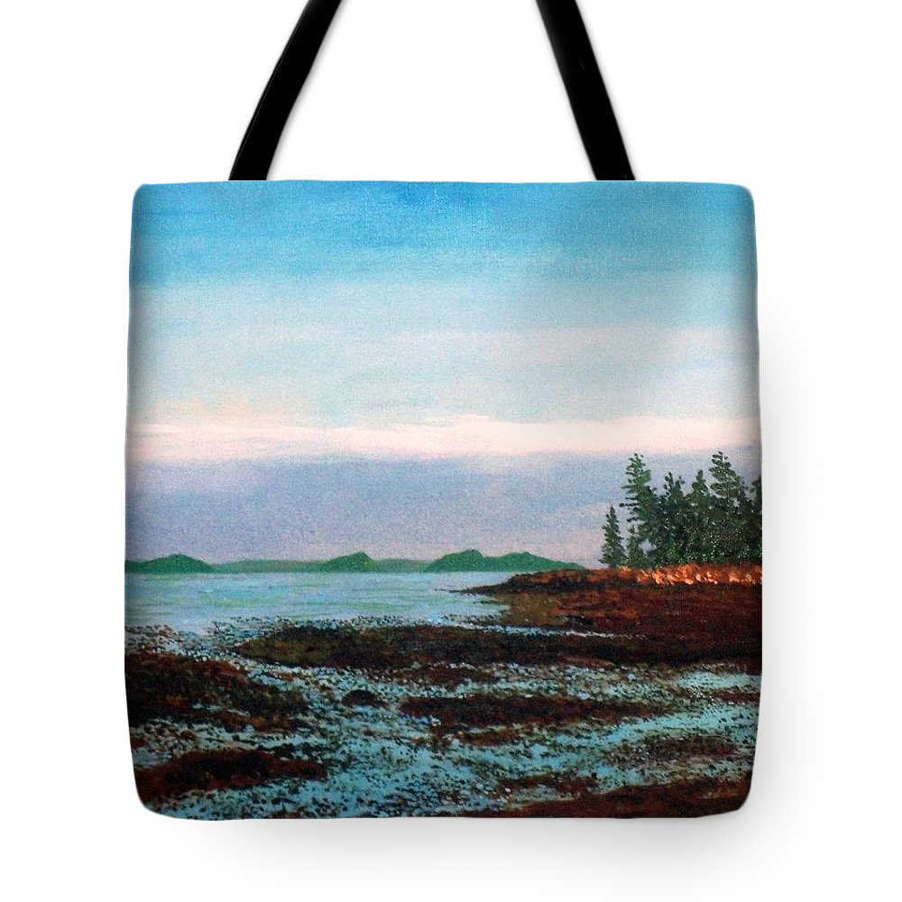 Low Tide Tote Bag featuring the painting Low Tide by William Tremble