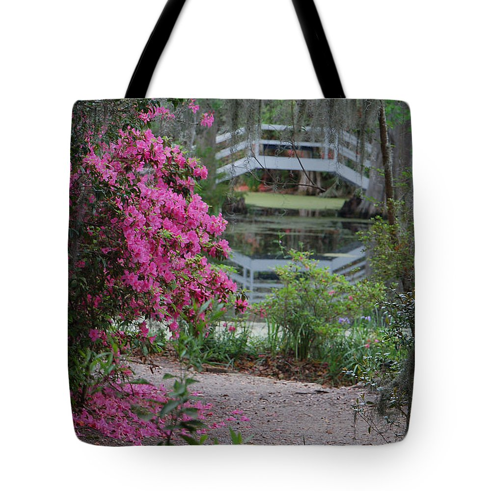 Garden Tote Bag featuring the photograph Lowcountry Series II - Ode to Monet by Suzanne Gaff
