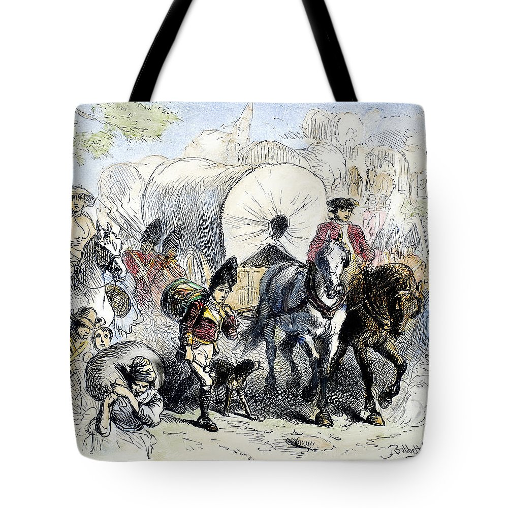 1778 Tote Bag featuring the photograph Loyalists & British, 1778 by Granger