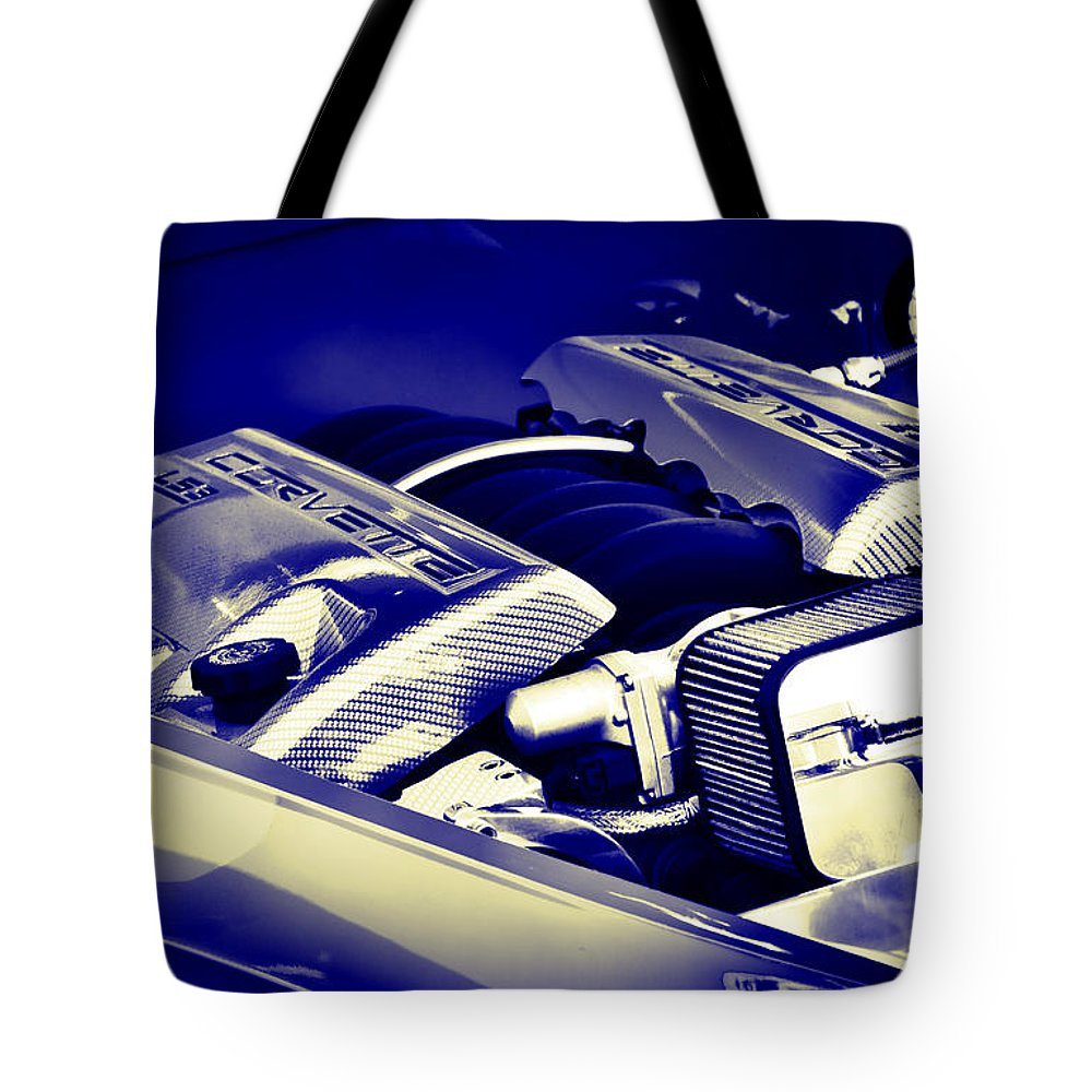 Chevrolet Tote Bag featuring the photograph LS3 by Ricky Barnard
