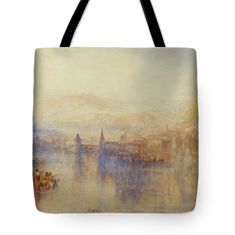 1851 Tote Bag featuring the painting Lucerne From The Lake by JMW Turner