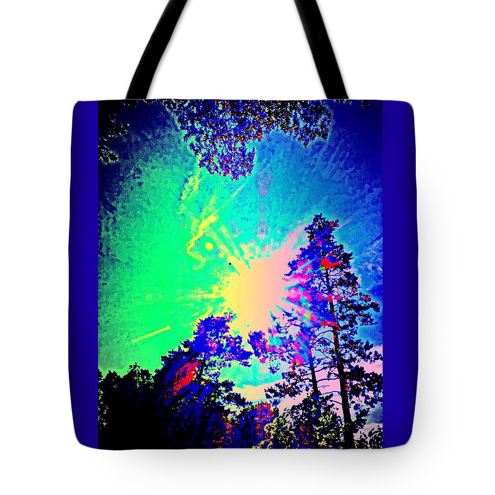 Summer Tote Bag featuring the photograph Lucy In The Sky With Diamonds Shining Right Back At You by Hilde Widerberg
