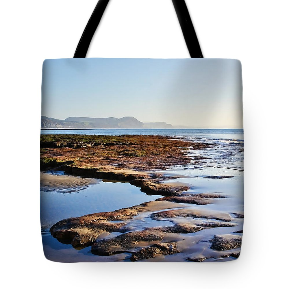 Lyme Regis Tote Bag featuring the photograph Lucy's Ledge by Susie Peek