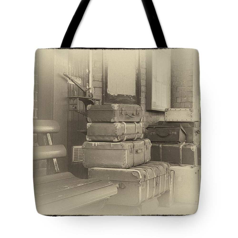 Historical Tote Bag featuring the digital art Luggage by Paul Stevens