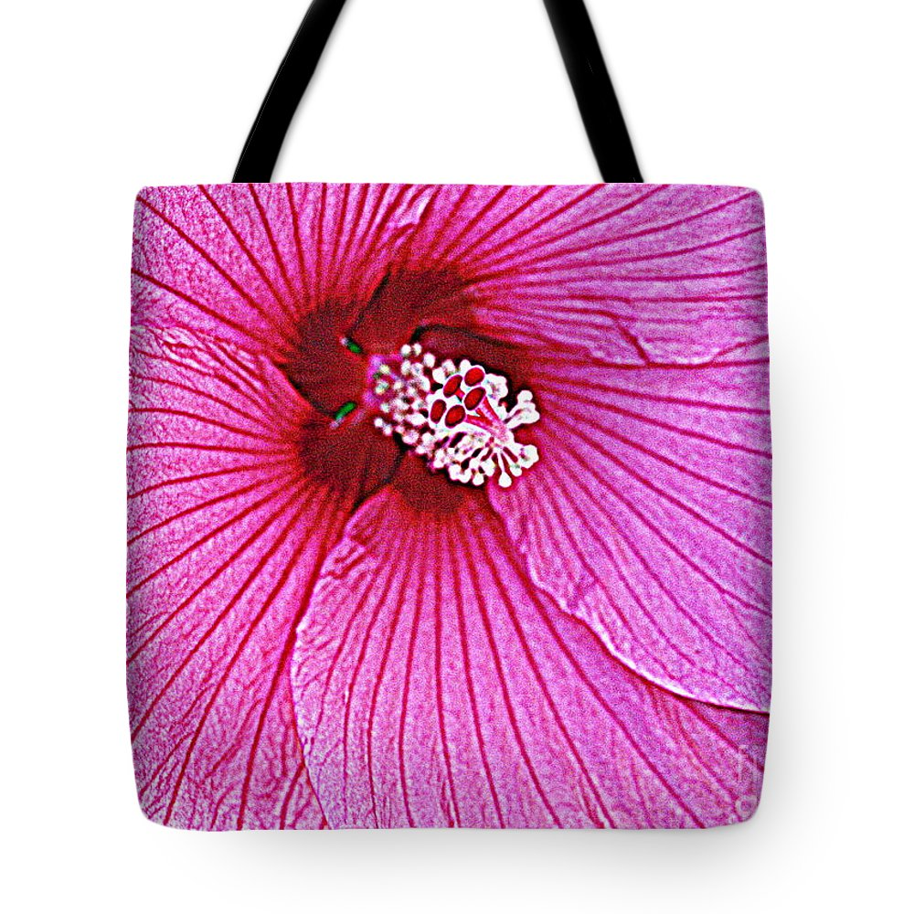Luminescent In Pink - Hibiscus - Tropical Flowers - Nature Tote Bag featuring the photograph Luminescent In Pink by Dora Sofia Caputo Photographic Design and Fine Art