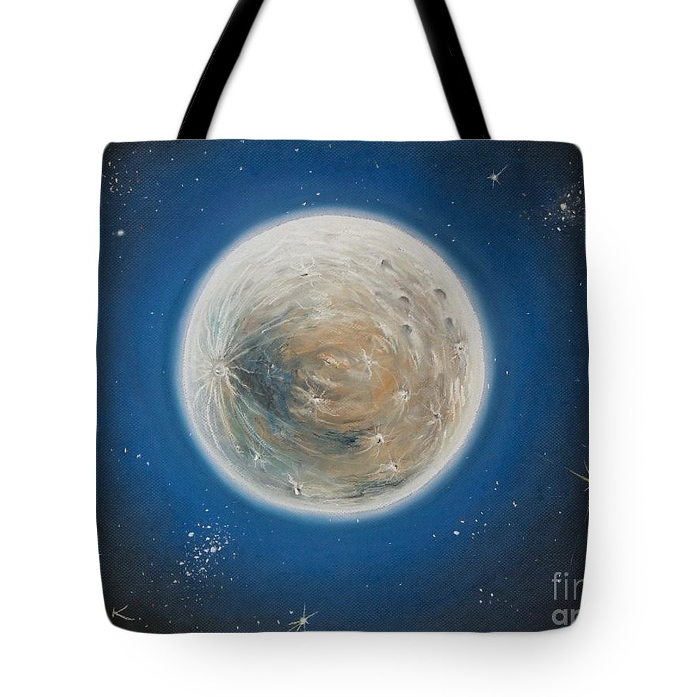 La Luna Tote Bag featuring the pastel Luna by Katharina Filus