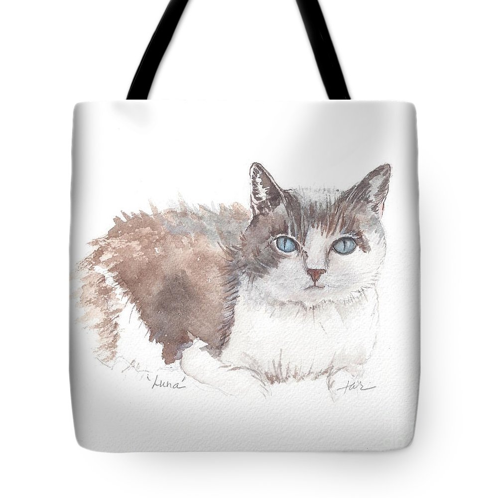 Cat Tote Bag featuring the painting Luna Meade by Judith Rice