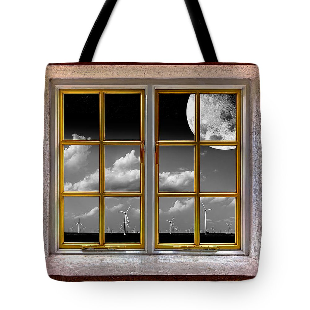 Architecture Tote Bag featuring the photograph Lunar Power by Semmick Photo