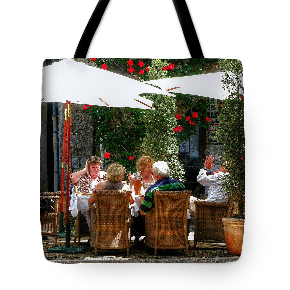 Cafe Tote Bag featuring the photograph Lunch Time by Douglas J Fisher