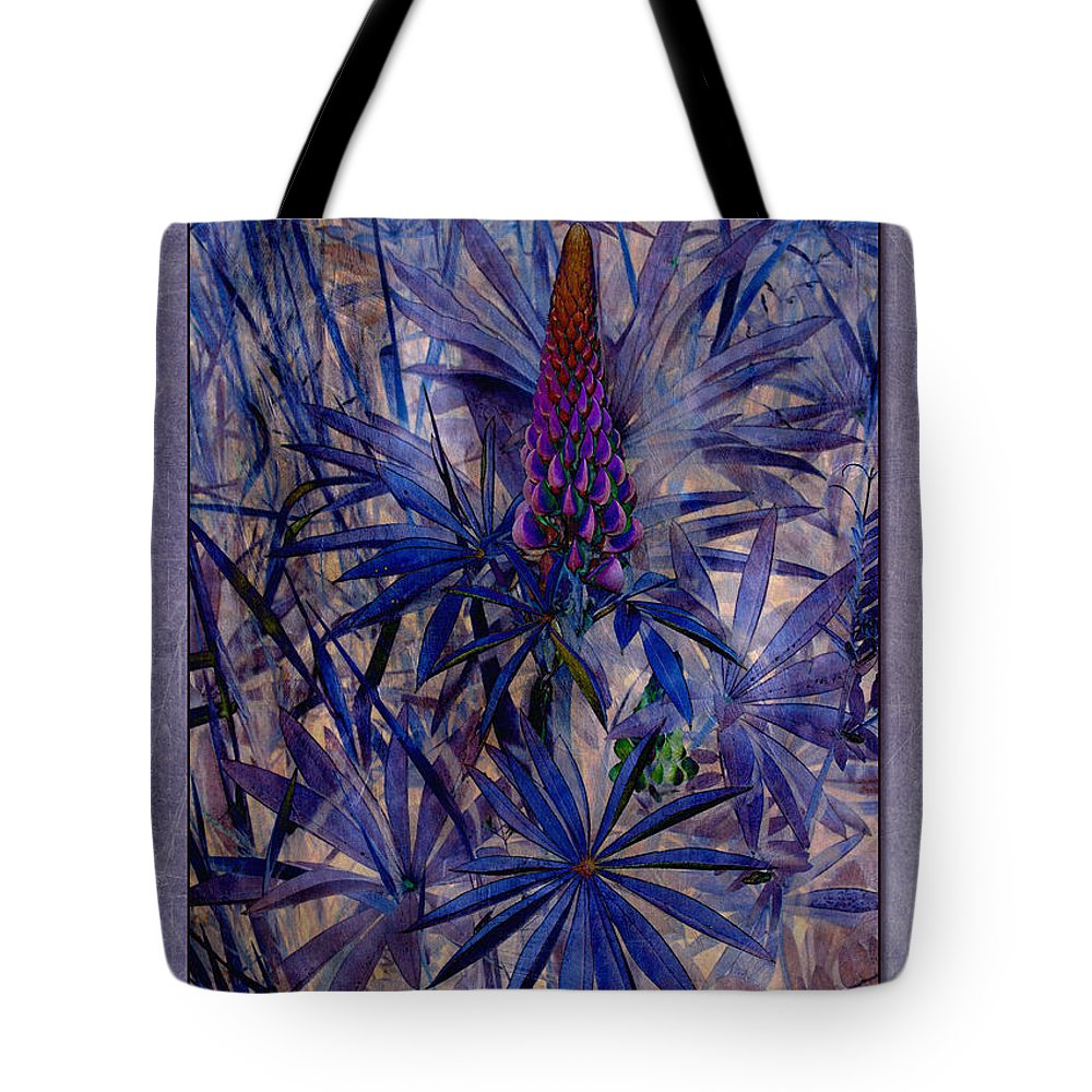 Lupins Tote Bag featuring the photograph Lupin 8 by WB Johnston