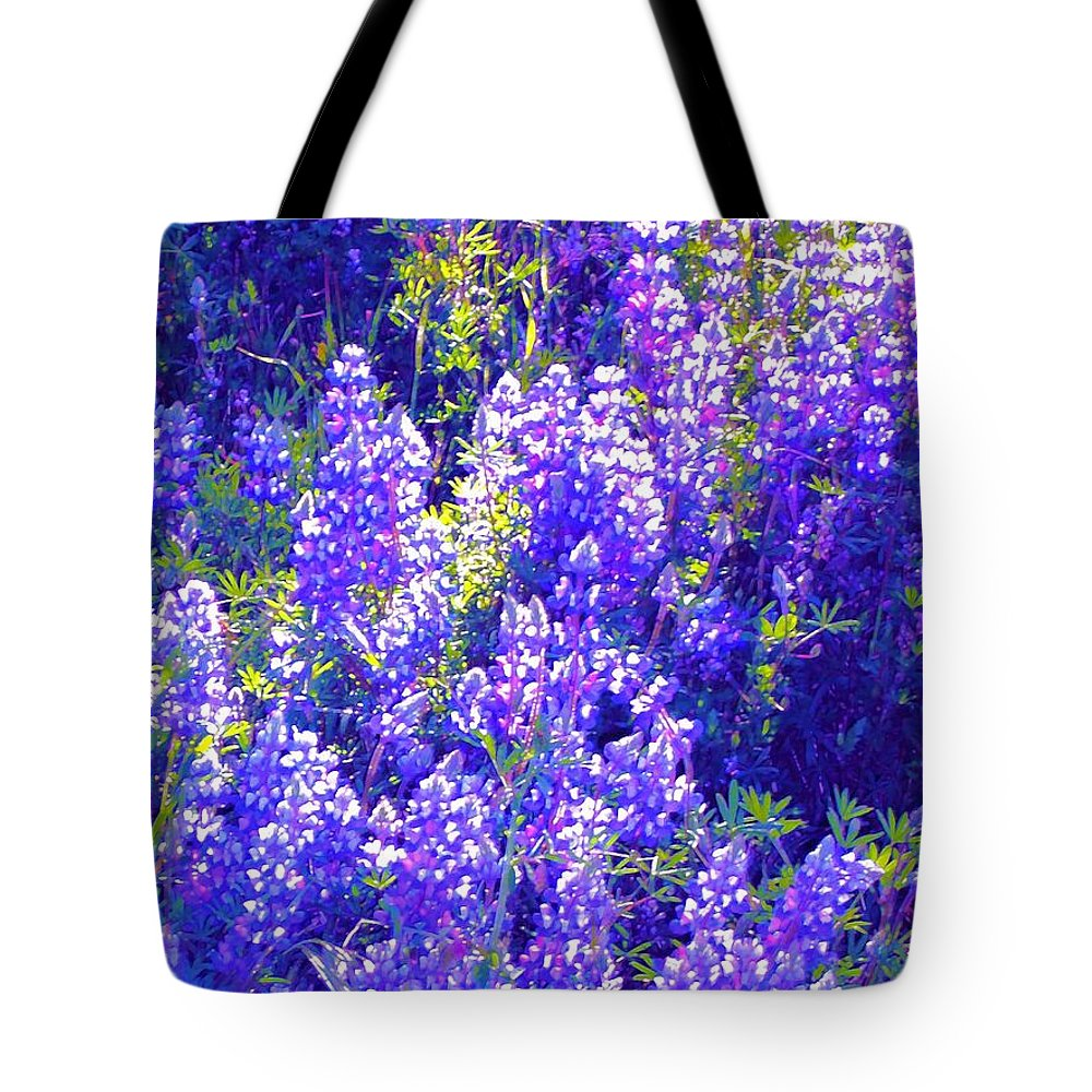 Flowers Tote Bag featuring the photograph Lupine 2 by Pamela Cooper