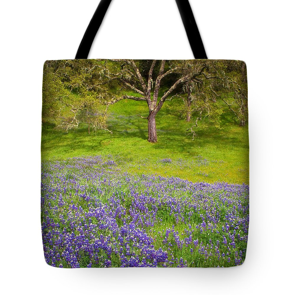 California Tote Bag featuring the photograph Lupine Oak by Alice Cahill