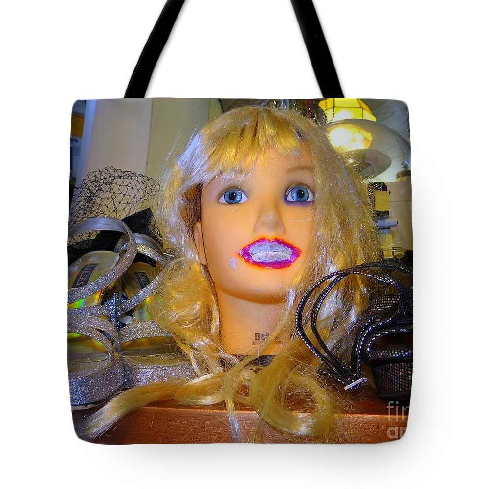 Mannequins Tote Bag featuring the photograph Luscious Lips by Ed Weidman