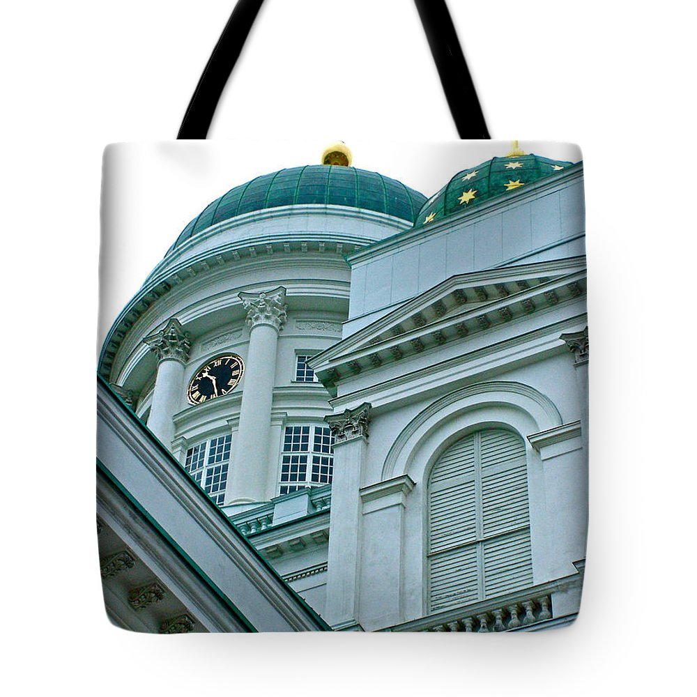 Lutheran Cathedral Of Helsinki Tote Bag featuring the photograph Lutheran Cathedral Of Helsinki-finland by Ruth Hager