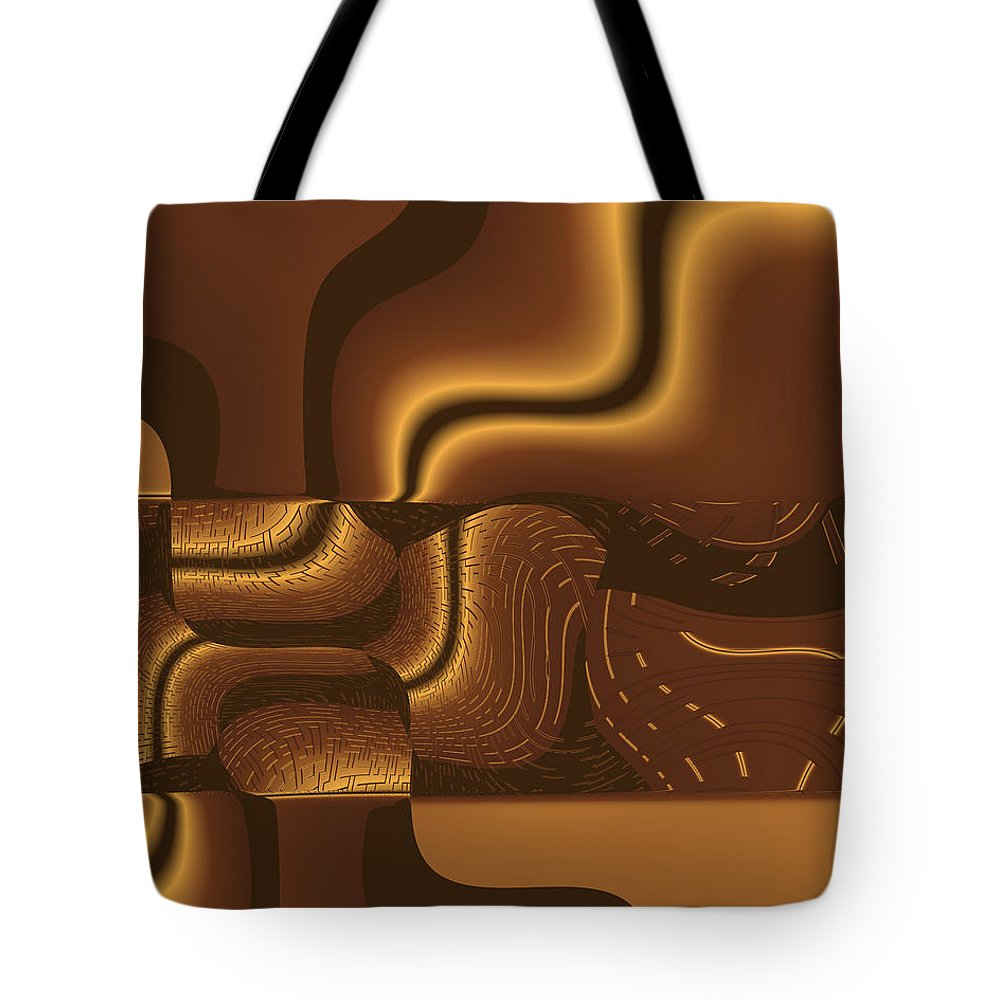 Abstract Tote Bag featuring the digital art Luxurious by Judi Suni Hall
