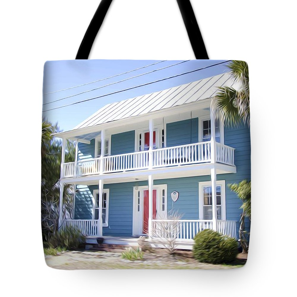 Luxury Tote Bag featuring the painting Luxury House by Jeelan Clark