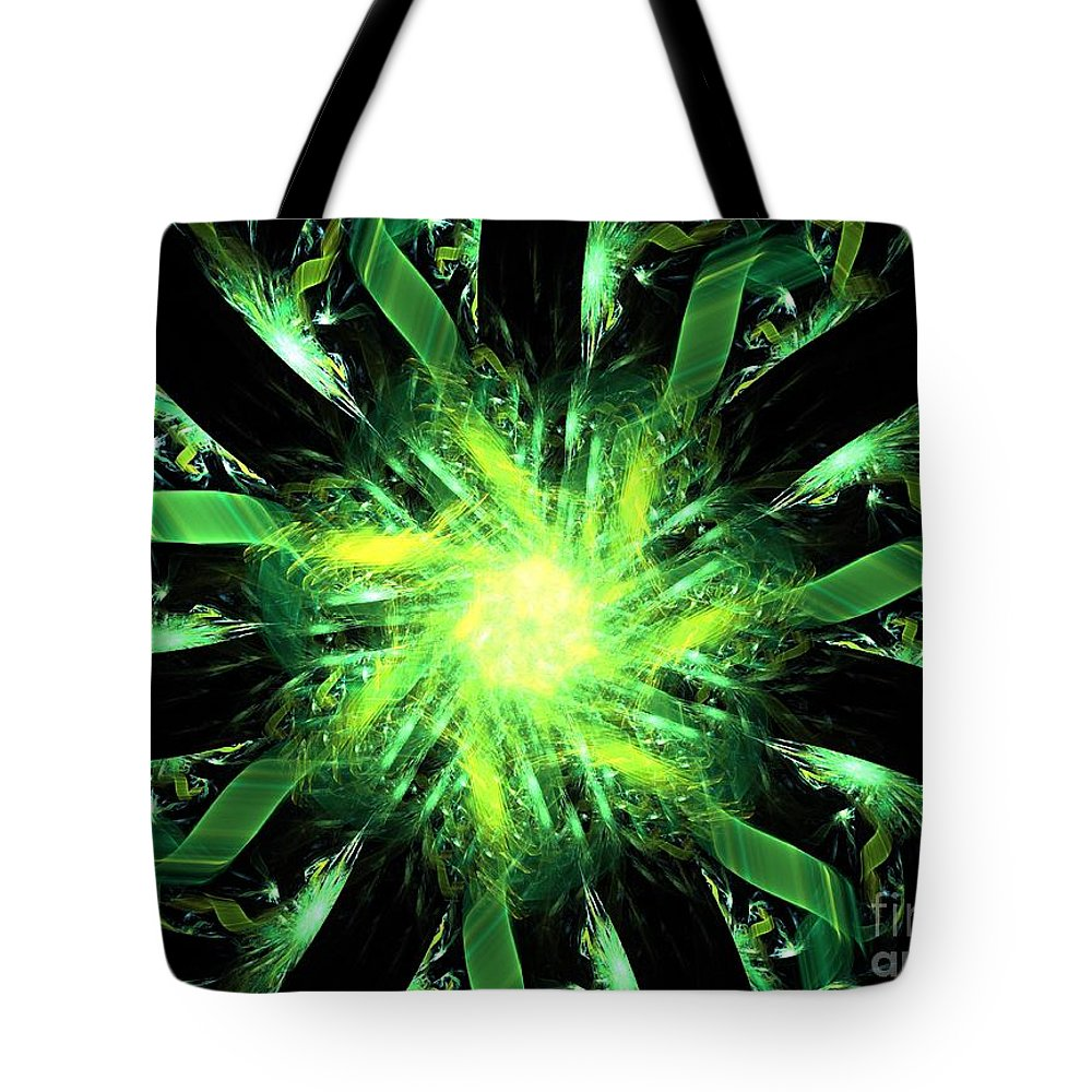Apophysis Tote Bag featuring the digital art Lynx by Kim Sy Ok