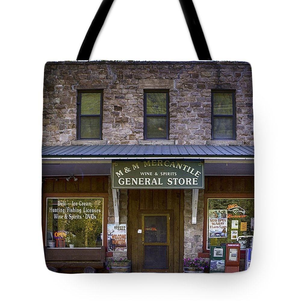 Colorado Tote Bag featuring the photograph M And M Mercantile by Jerry Fornarotto