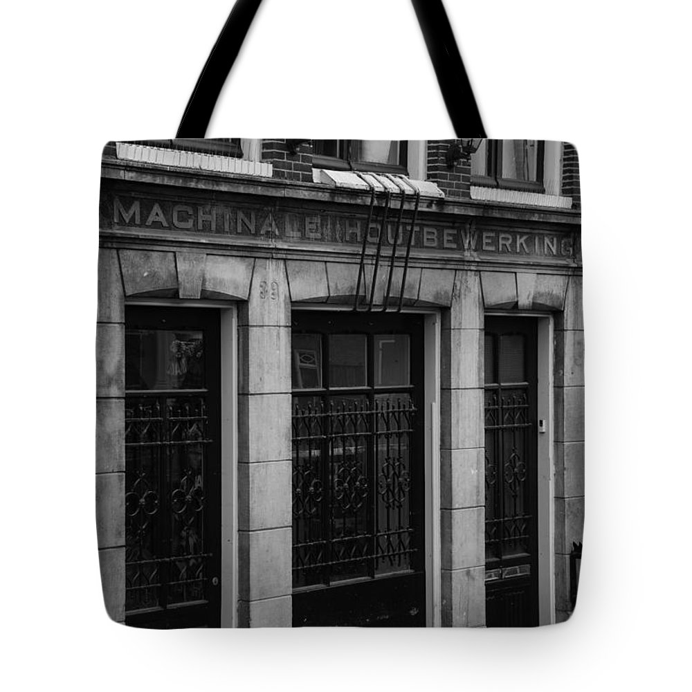 2014 Tote Bag featuring the photograph Machinale Houtebewerking Amsterdam by Teresa Mucha