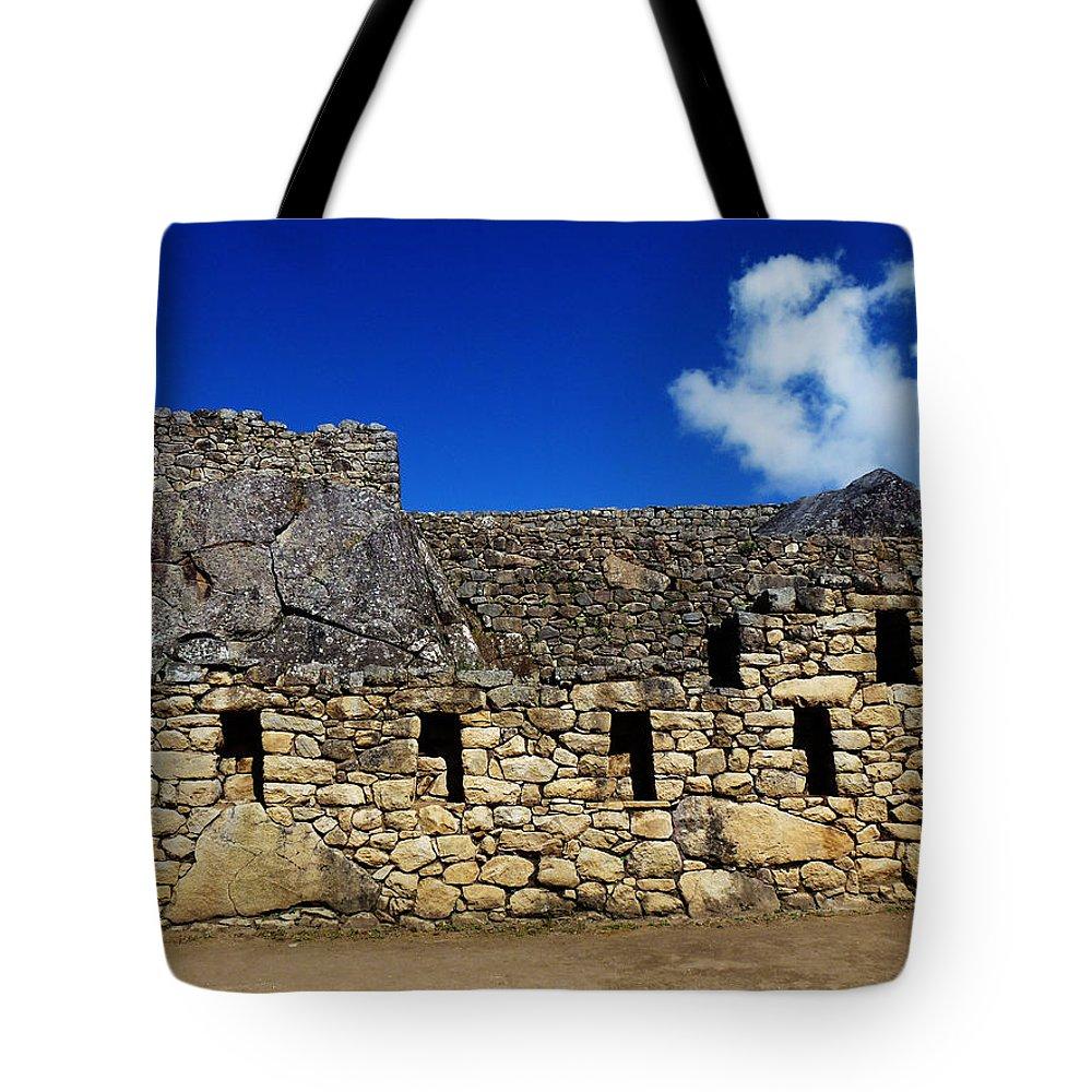 Peru Tote Bag featuring the photograph Machu Picchu Peru 13 by Xueling Zou